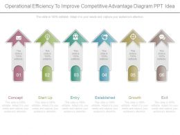 Operational Efficiency To Improve Competitive Advantage Diagram Ppt Idea