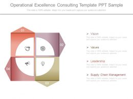 Operational Excellence Consulting Template Ppt Sample