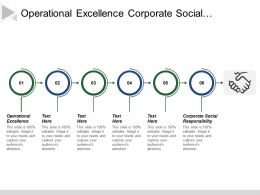 Operational Excellence Corporate Social Responsibility Human Capital Information Capital