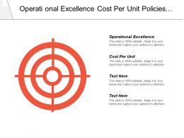 Operational Excellence Cost Per Unit How Policies Extend Cpb