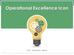 Operational Excellence Icon Successfully Business Revenue Management Leadership
