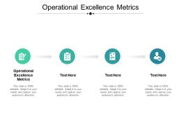 Operational Excellence Metrics Ppt Powerpoint Presentation Pictures Display Cpb