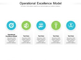 Operational Excellence Model Ppt Powerpoint Presentation Introduction