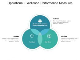 Operational Excellence Performance Measures Ppt Powerpoint Presentation Infographic Template Model Cpb