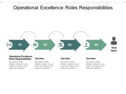 Operational Excellence Roles Responsibilities Ppt Powerpoint Presentation Show Deck Cpb