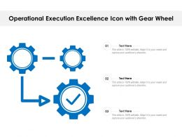 Operational Execution Excellence Icon With Gear Wheel