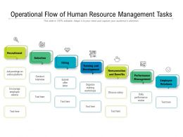 Operational Flow Of Human Resource Management Tasks