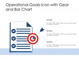 Operational Goals Icon With Gear And Bar Chart