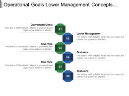 Operational Goals Lower Management Concepts Growth Innovation Digitalization