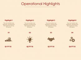 Operational Highlights Idea Bulb Ppt Powerpoint Presentation File Design Templates