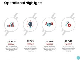 Operational Highlights Ppt Powerpoint Presentation Icon Infographics