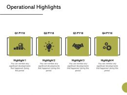 Operational Highlights Strategy Ppt Powerpoint Presentation Styles Graphics Pictures