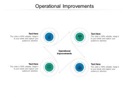 Operational Improvements Ppt Powerpoint Presentation Styles Microsoft Cpb