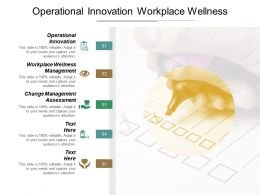Operational Innovation Workplace Wellness Management Change Management Assessment Cpb