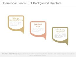 Operational Leads Ppt Background Graphics