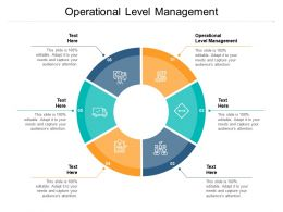 Operational Level Management Ppt Powerpoint Presentation Icon Introduction Cpb