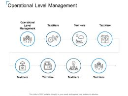 Operational Level Management Ppt Powerpoint Presentation Inspiration Template Cpb