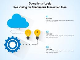 Operational Logic Reasoning For Continuous Innovation Icon
