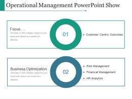 Operational Management Powerpoint Show