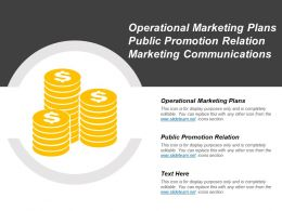Operational Marketing Plans Public Promotion Relation Marketing Communications