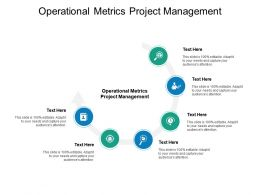 Operational Metrics Project Management Ppt Powerpoint Gallery Cpb