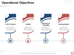 Operational Objectives Efficiency And Flexibility Ppt Powerpoint Presentation Examples