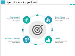Operational Objectives Ppt Examples Professional