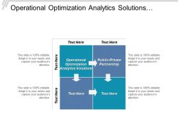 Operational Optimization Analytics Solutions Public Private Partnerships Quality Remediation Cpb