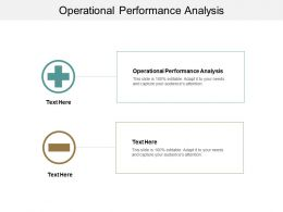 Operational Performance Analysis Ppt Powerpoint Presentation Icon Summary Cpb