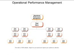 Operational Performance Management Ppt Powerpoint Presentation Gallery Slide Download Cpb