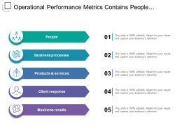 Operational Performance Metrics Contains People Business Processes Products And Services
