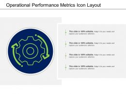 Operational Performance Metrics Icon Layout