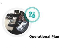 Operational Plan Gears Ppt Powerpoint Presentation Portfolio Infographics