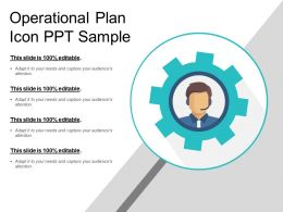 Operational Plan Icon Ppt Sample
