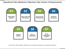Operational Plan Milestones Objectives Task Division And Requirements