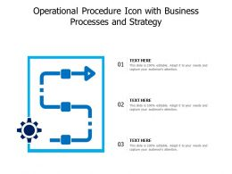 Operational Procedure Icon With Business Processes And Strategy