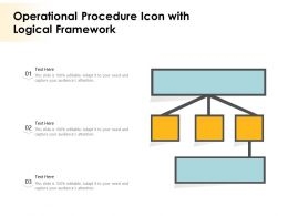 Operational Procedure Icon With Logical Framework