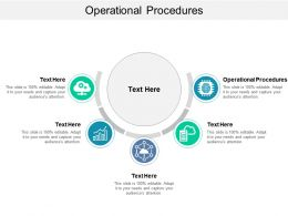 Operational Procedures Ppt Powerpoint Presentation Professional Background Designs Cpb