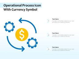 Operational Process Icon With Currency Symbol