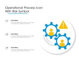 Operational Process Icon With Risk Symbol