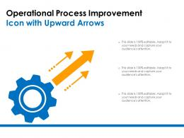 Operational Process Improvement Icon With Upward Arrows