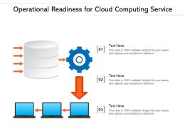 Operational Readiness For Cloud Computing Service