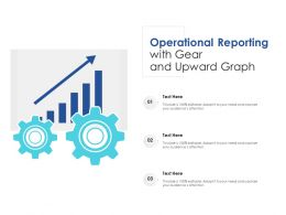 Operational Reporting With Gear And Upward Graph