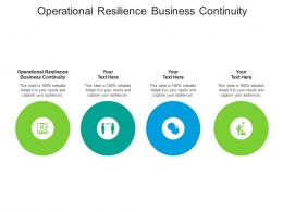 Operational Resilience Business Continuity Ppt Powerpoint Presentation Ideas Example Introduction Cpb
