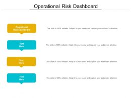 Operational Risk Dashboard Ppt Powerpoint Presentation File Format Cpb