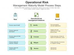 Operational Risk Management Maturity Model Process Steps