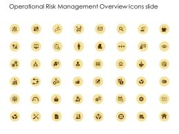 Operational Risk Management Overview Icons Slide Server Gears Ppt Powerpoint Presentation