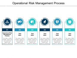 Operational Risk Management Process Ppt Powerpoint Presentation Diagrams Cpb