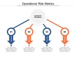 Operational Risk Metrics Ppt Powerpoint Presentation Professional Maker Cpb