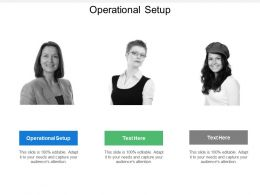 Operational Setup Ppt Powerpoint Presentation Gallery Structure Cpb